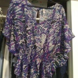 Tops - Satin blouse. Waist length